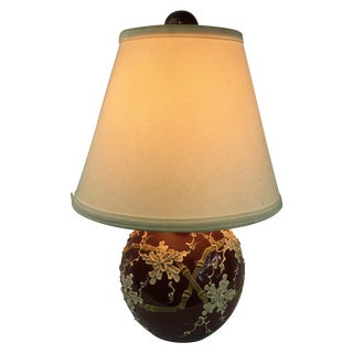 Oxblood Chinoiserie Dome Lamp