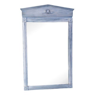 Gray Neoclassical Painted Mirror