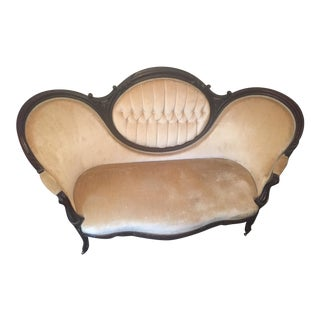 Antique Victorian Cameo Loveseat
