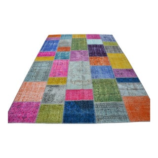 Multicolor Overdyed Turkish Rug - 7′ × 9′10″