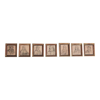 """Hall of Nobles"" Framed Prints - Set of 7"