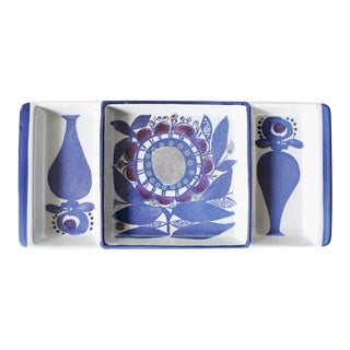 Kari Christensen for Royal Copenhagen Aluminia Faience Ceramic Tray