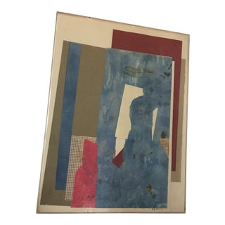 Mitzi Levin Abstract Collage, 1983