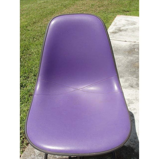 Mid-Century Eames Purple Stool by Herman Miller - Image 9 of 9