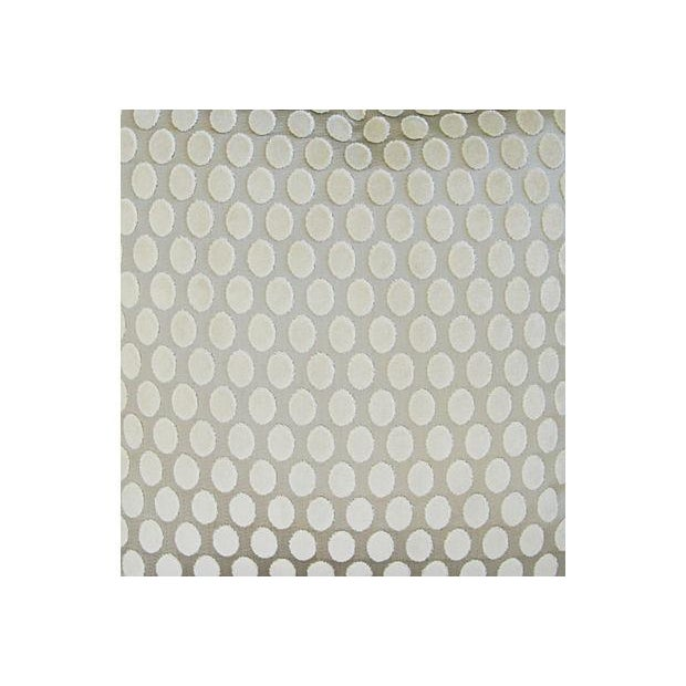 Designer Platinum/White Velvet Dot Pillows - Pair - Image 3 of 8