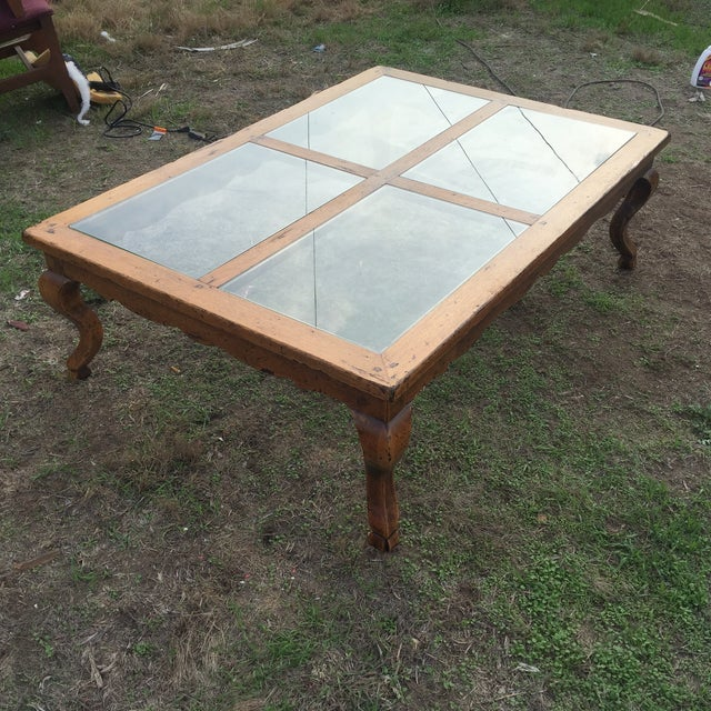 Queen Anne Glass Top Coffee Table - Image 4 of 6