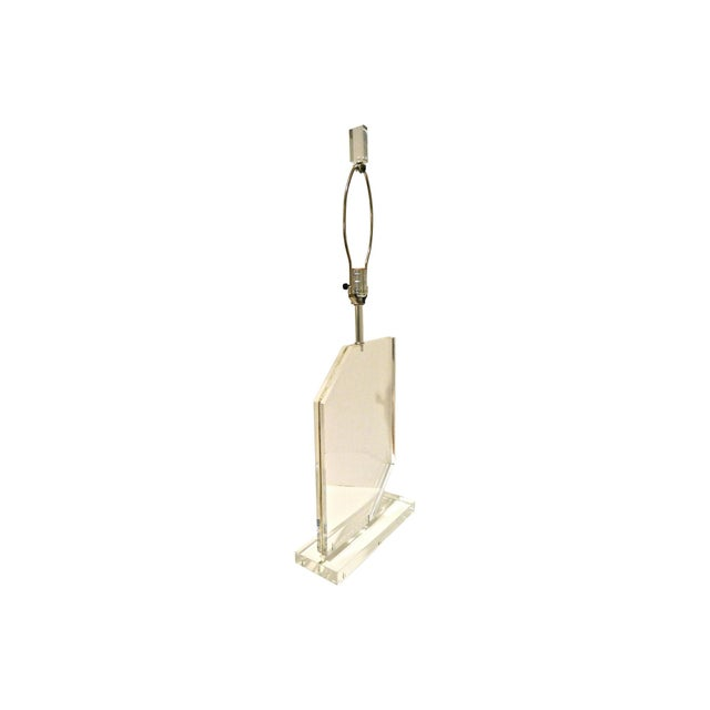 1970s Springer Style Lucite Lamp - Image 5 of 7