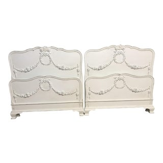 Vintage Shabby Chic Twin Bed Frames - A Pair