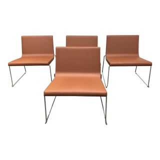 Andreu World Lineal Comfort Side Chairs - Set of 4