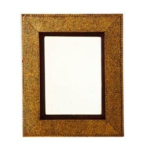 Brown Velvet Matted Golden Mirror