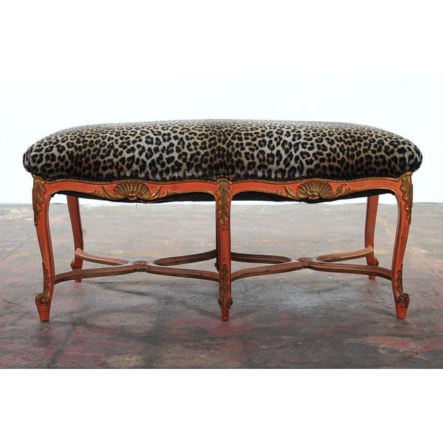 French 19th-Century Leopard Bench - Image 3 of 7