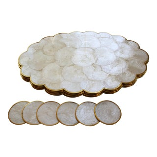 Capiz Shell Coasters & Placemats - Set of 6