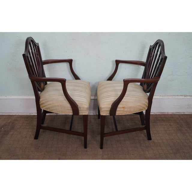 Mahogany Federal Style Inlaid Dining Chairs - 6 - Image 7 of 10