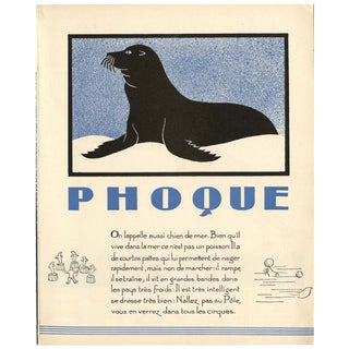 1930s French Art Deco Seal Giclee Print