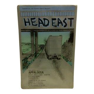 Vintage Head East Wabash College Concert Poster