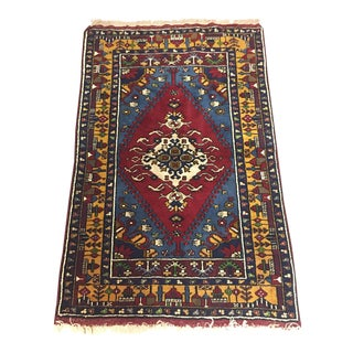 "Vintage Turkish Oushak Rug- 5'4"" X 3'3"""