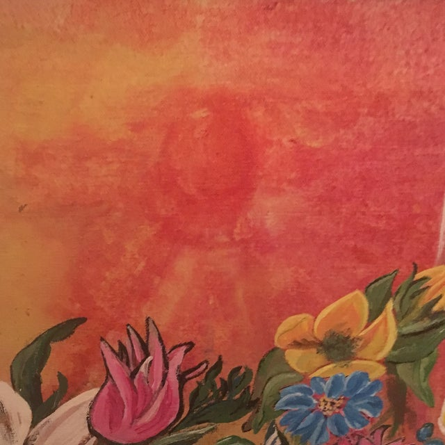 Mid-Century Modern Jardiniere 1966 Painting - Image 7 of 7