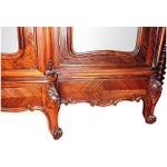 Image of Antique French Rosewood 3-Door Armoire