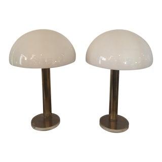 1980s Gage Cauchois Lucite Lamps - A Pair