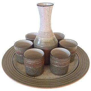 Mid-Century Wine Carafe Serving Set