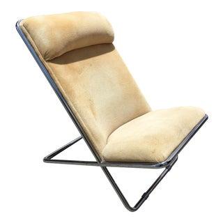 Mid-Century Modern Tubular Chrome Lounge Chair