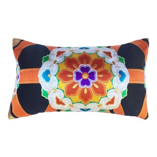 Vintage Japanese Obi Throw Pillow