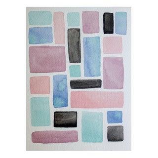 """Squares: Ocean"" Watercolor by Celia Agnes"