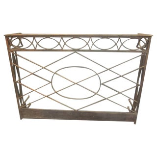 French Neoclassical Console in Hand-Hammered Iron