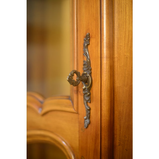 French Cherrywood & Glass Bookcase - Image 4 of 5