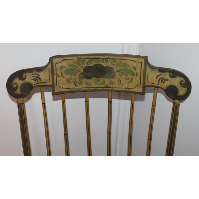 19th Century Fancy Original Painted Rocking Chair from New England - Image 7 of 10