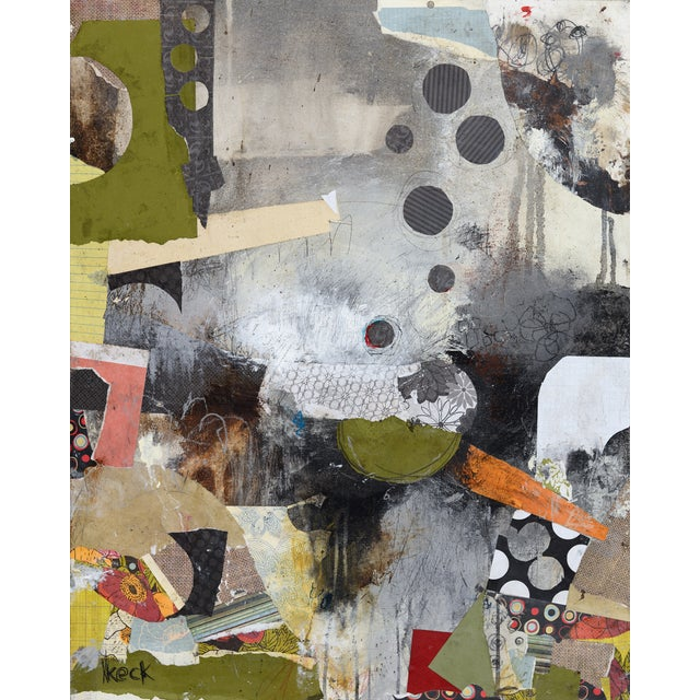 Michel Keck Original Abstract Mixed Media Painting - Image 1 of 2