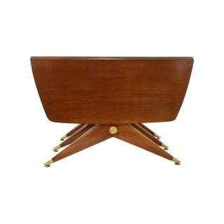 Gio Ponti Attr. Brass & Walnut Dining Table