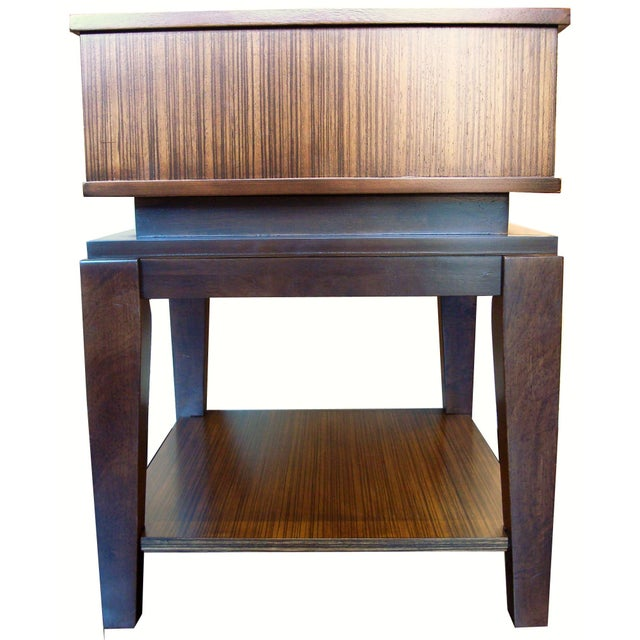 New Mid-Century Style End Table With Drawer - Image 4 of 6