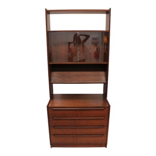 Mid-Century Norwegian Wall Display Cabinet