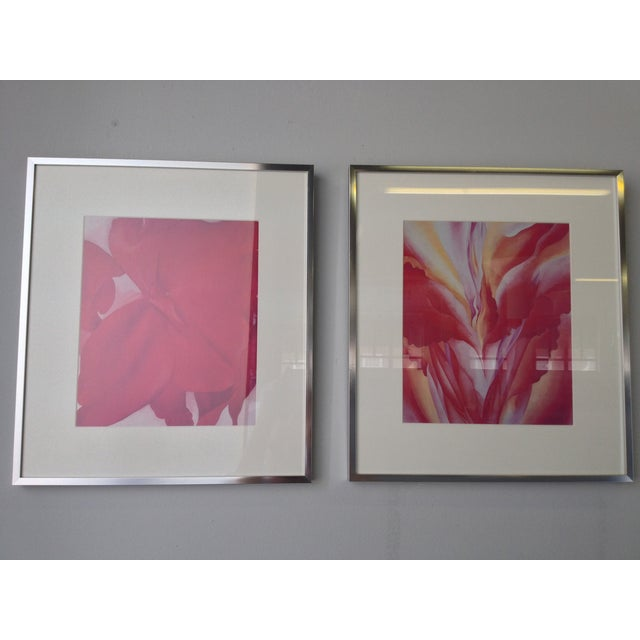 Georgia O'Keeffe Modern Framed Prints - A Pair - Image 2 of 3