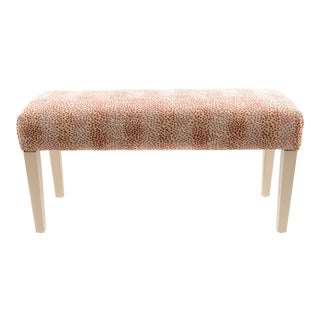 Wooden Bench Upholstered in Fabric