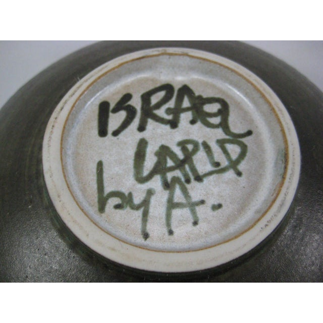 Vintage 70s Israel Lapid Art Pottery Bowl - Image 8 of 8