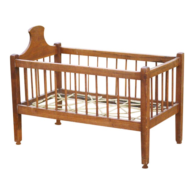 American Infant or Doll Cherry Crib - Image 1 of 6