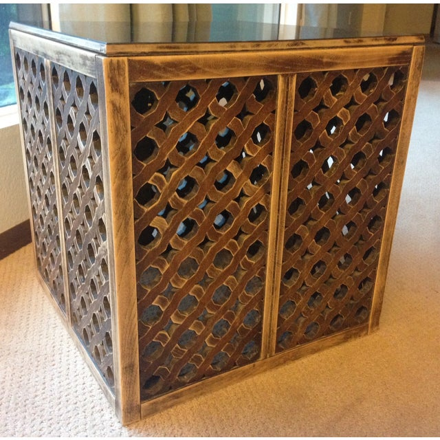 Mid-Century Moroccan Style Wood Side Table - Image 5 of 7