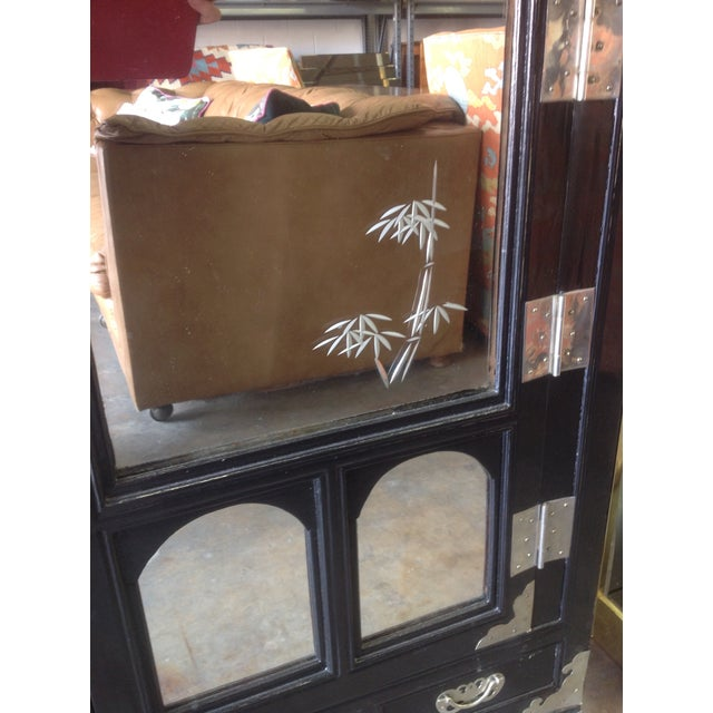 Black Lacquer Chinoiserie Cabinet - Image 5 of 10