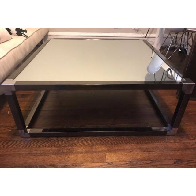 Milo baughman style chrome coffee table chairish for 60s style coffee table