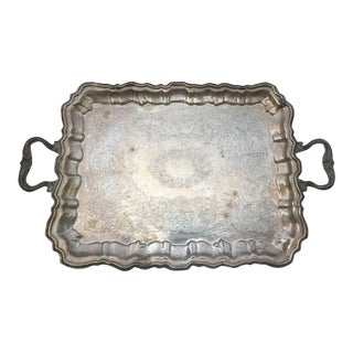 Etched Silverplate Tray