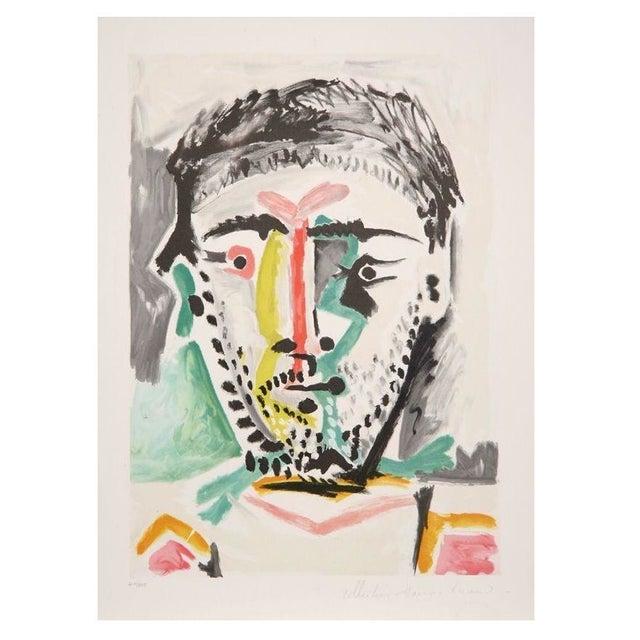 Pablo Picasso - Portrait D'Homme Lithograph - Image 1 of 2