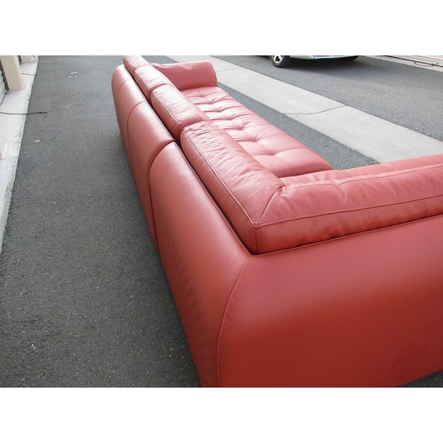 Roche Bobois Sunset Orange Sectional Sofa - Image 6 of 9