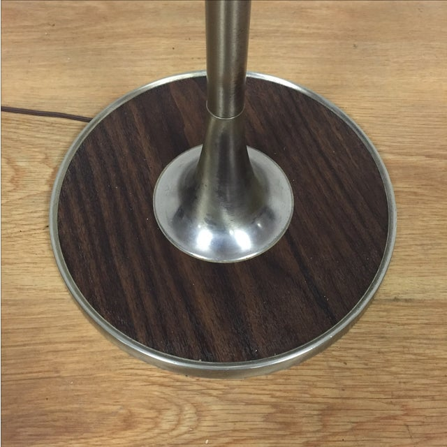 Mid-Century Aluminum & Faux Wood Floor Lamp - Image 5 of 6