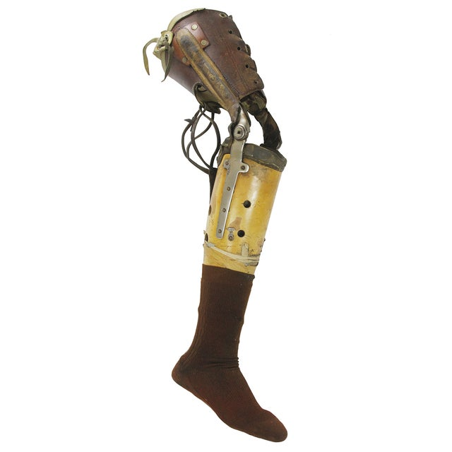 Vintage Medical Prosthetic Right Leg - Image 1 of 5