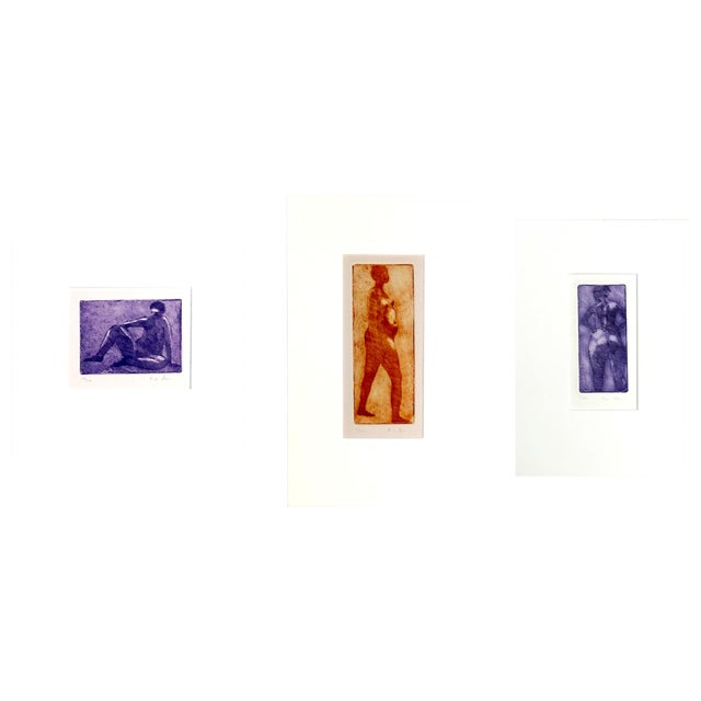 Image of Rachel Foreman Monochrome Nude Etchings - Set of 3