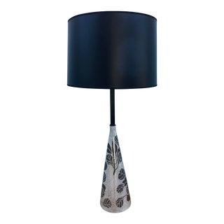 Italian Modernist Silver Leaf Lamp