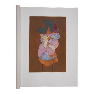 Vintage Paul Klee Ltd. Ed. Abstract Silkscreen Print