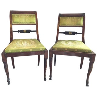 Pair of 19th Century Antique Regency Period Chairs